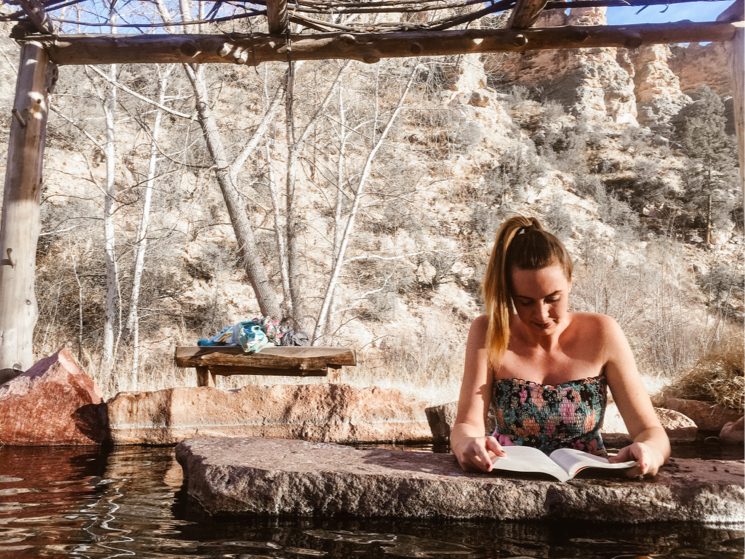 Visiting a hot spring while traveling full time