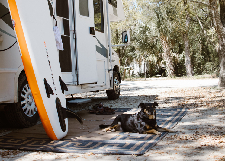RV camping in State Park in Florida