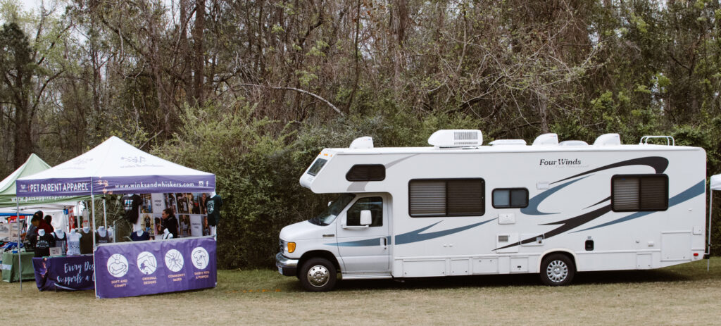 RV Parked at event while full time traveling